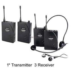 Wholesale Wireless Tour Guide - Takstar wireless tour guide system Teach Train Tourism 1 Transmitter 3 Receiver TAKSTAR 938 Wireless Tour Guide