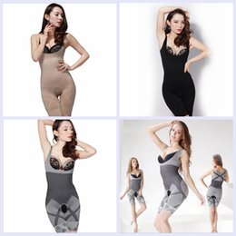 Wholesale Bamboo Charcoal Slimming Suit Wholesale - 3 Color Woman Bamboo Charcoal Sculpting Slimming Underbust Shapewear Corset Shaper Body Suit Waist Tummy Shaper S-XL YYA136