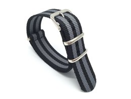 Wholesale 22mm Nato Band - Original NATO Luxury Causal 18mm,20mm,22mm Military Army Nylon Fabric Watch Band Strap Nylon Buckle Wrist WatchBand For Watches