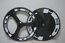 Wholesale Road Disc - HED 3 Spokes and Disc Closed Wheelset Road Hubs full carbon road bike wheels carbon fiber wheels