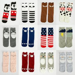 Wholesale Little Girl Wholesale Winter Leggings - Kids 3D Knee High Fox socks high quality Baby Boy Little Girl Warm Cotton Leggings for winter children stocking cheap 10pairs