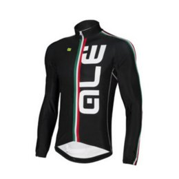 Wholesale Men Shirt Fabric - Black ALE Long Cycling Shirt for Men Full Sleeves Bike Jerseys Soft Fabric Bicycle Clothes Cycling Tops Breathable Mesh Clothing