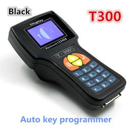 Wholesale T Code Car Key - Professional Auto Key Programmer T300 Newest Version T 300 T-CODE English or Spanish Black Cars T-300 Auto Transponder