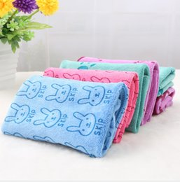 Wholesale Wholesale Cartoons Face Towel - 1022002 Absorbent colorful rabbit monkey printed towel Superfine fiber cartoon towel 220g 30*60 home gifts 3colors