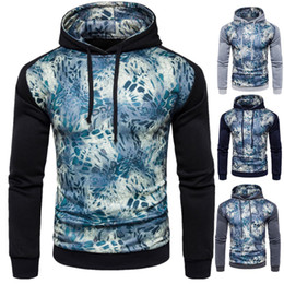 Wholesale Leopard Print Winter Hoodie - 2017 Print Patchwork Men Hoodies With Hat High Quality European And American Trendy Men Outwear Autumn And Winter Warm Coat For Men