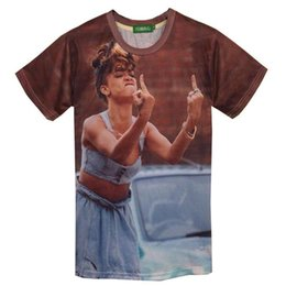 Wholesale Marilyn Print - tshirt New Fashion Women's Rihanna 3d t-shirt funny printed Marilyn Monroe top tees Tshirt Women T shirt clothing HT5