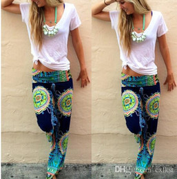 Wholesale Good Quality Yoga Pants - Women Harem Aladdin Casual Wide Leg Gypsy Yoga Long Pants Palazzo Trousers Baggy Brand New Good Quality Free Shipping