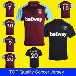 Wholesale Thailand Wholesale Football Jersey - A AYEW Thailand Chicharito soccer jerseys West ham united 2018 football shirt CARROL MOBLE LANZINI FEGHOULI ARNAUTOVIC west ham jersey 17 18