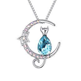 Wholesale Yellow Swarovski Crystal Necklace - Using SWAROVSKI Elements Crystal Necklace and cat personalized jewelry wholesale