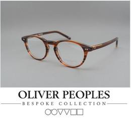 Wholesale Square Black Glass Plates - Brand Glasses-HOT 2016 Oliver peoples eye glasses OV Riley-K Vintage myopia glasses frame Men women Square frame Retro plate eyeglasses