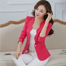 Wholesale Korean Jacket Female - free shipping 2016 spring new female small suit jacket Slim Korean temperament ladies short paragraph small suit leisure suit tide