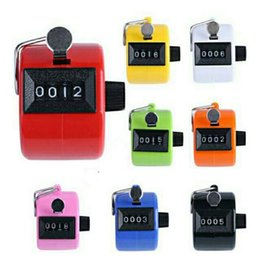 Wholesale Hand Counter Clicker - Digital Plastic Hand Held Tally Clicker Counter 4 Digit Number Clicker Golf Chrome Sport Counter Counting Recorder OOA3464