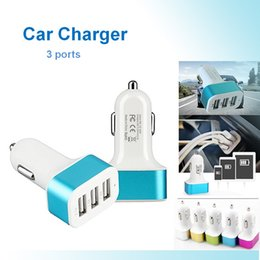 Wholesale Wholesale Car Batteries Direct - 3 port Rapid USB Car Charger battery 3-port USB 5.1A Cigarette Charger Adapter for Iphone 7 6S Plus 5s 5c, Ipad Samsung