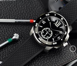 Wholesale 42mm Ceramic - New Mens Ceramic dial Top Wristwatch HOT W7100056 automatic mechanical Mens Watch Sport Black rubber watch 42mm Watches