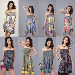 Wholesale Cotton Dresses For Women - Summer Dresses For Women Plus Size Dresses Women Knee Length Dresses Cotton Dress Off Shoulder Sexy Dresses Chiffon Beach Dress
