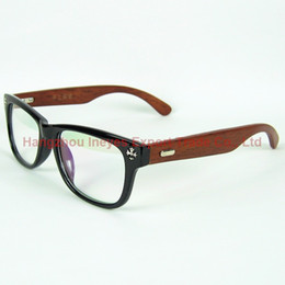 Wholesale Wholesale Chrome Rims - 2016 Classic Eyeglasses Frame Chrome Wood Hand Made Optical Frame With Clear Lenses 4 Colors Wooden Eyewear