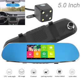 Wholesale Gps Sd Navigation Card - 5 Inch Android 1080P HD Car DVR Dual Camera Electronic Dog Driving Recorder Support GPS Navigation Loop Video FM Reversing Visual CAL_30X