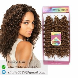 "Wholesale uk accessories - Freetress Crochet Braid Deep Twist Ombre Hair Extension 10"" 3pieces lot 1 Pack Afro Synthetic Ombre Braiding Hair Extensions UK USA"