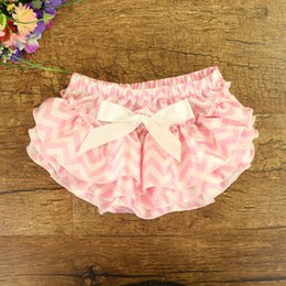 Wholesale Wave Pants - Everweekend Girls Baby Wave Candy Color PP Pants Bow Ruffles Sweet Children Fashion Summer Clothing Western Toddler Baby Pants