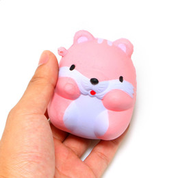 Wholesale Hamsters Sale - hot sale Squishy charms Simulation Hamster Stress Stretch Scented Slow Rising Toys Relieve Anxiety Gift wholesale