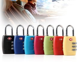 Wholesale Tsa Travel - Wholesale TSA Luggage Strap Locks Digit Plastic Alloy Lock Password Customs Luggage Padlock Combination Suitcase Padlock Luggage Travel Lock
