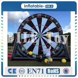 Wholesale inflatable boards - Free shipping,Good quality 3m high inflatable foot darts,dart game,giant inflatable football soccer dart board