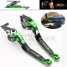 Wholesale Motorcycle Clutch Brake Levers - New Green Motorcycle Adjustable CNC Aluminum Brakes Clutch Levers Set Motorbike brake fits for Kawasaki Z800 E version 2013 2014 2015
