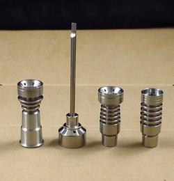 Dôme à clous en titane de 14 mm en Ligne-14 MM et 19 MM masculin et féminin clou en titane sans dôme GR2 Ti clous bouchon en carb carbure de verre bang plate-forme pétrolière