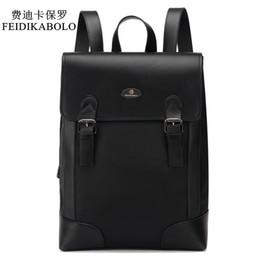 Wholesale Bag Oxford - FEIDIKABOLO Brand Male Backpack Preppy Style Leather School Backpack Bag Men Oxford Teenagers Fashion Backpack mochila masculina