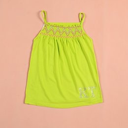Wholesale Outlet Clothing - Brand Candy Color Kids Tank Tops Fashion All Match New Summer Clothing For Boys Girls Sleeveless Knit Tanks Factory Outlet Price