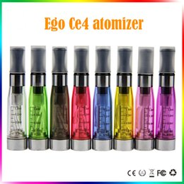 Wholesale Ego T Cartomizer - ego ce4 atomizer ce4 clearomizer 510 thread 1.6ml long wick electronic cigarettes cartomizer ce4 fit for ego t evod vision Free shipping