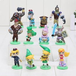 Wholesale Legend Zelda Figures Wholesale - 12pcs set Furuta Choco Egg The Legend of Zelda Mini Figure loose part kids toy Free shipping