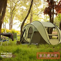 Wholesale Ultralight Tents Backpacking - 2016 new super automatic 5-6 people single layer Korean brand ultralight professional design camping tourist tent