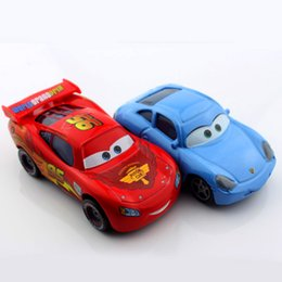 Wholesale Sally Metal - 2pcs set Mcqueen sally friend miniature kids disny cars 2 toy cars truck alloy metal die cast race car pixar alloy collectible kids boys toy
