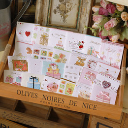 Wholesale Cute Happy Birthday - Handmade Mini Happy Birthday Cards With The Envelope ,Kids Cute Small Greeting Cards