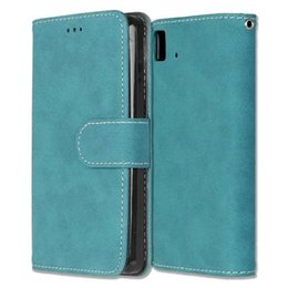 Wholesale Iphone Power Leather - Retro Matte Wallet Leather Case For BQ Aquaris E5 4G Edition E4.5 M5 LG X Power Stylus 2 LS775 Stylo 2 Plus MS550 Frosted Cards Skin Cover