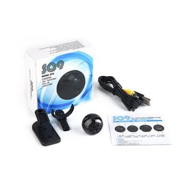 Wholesale Mini Camera Video Voice Recorder - 360 degree SQ9 Mini DV Spy HD 1080P Sport Camera 12MP Car DVR Video Camera Multifunction Night Vision Voice Video Recorder