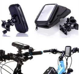 Wholesale Bicycle Pouch For Iphone - Universal Waterproof Rotatable Bicycle Bike Handlebar Mount Holder Bracket Bag Case For Samsung S6 S7 Edge iPhone 6 6S Plus HTC Sony Huawei