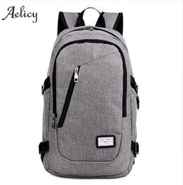 Wholesale Usb Charging System - Anti Theft Business Laptop Backpack with USB Charging Port Unisex Leisure Travel Backpack School Bags mochila feminina