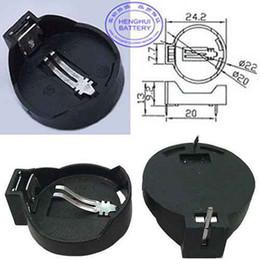 DaiX оригинальный 5 шт. кнопка компьютера сотовый Монета 3 в держатель батареи разъем разъем линия контейнер чехол черный для CR2032 CR2025 2032 CR2032-1 от