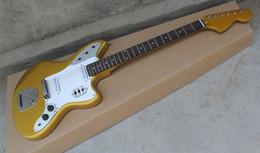 Wholesale Electric Guitars Jaguar - hot sale high quality jaguar guitar in gold color rosewood fingerboard 6 strings electric guitar chrome hardware free shipping