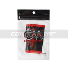 Wholesale Replacement Battery Packs - 100% Original Coil Master Battery Wraps 10pcs Pack Pre cut PVC 18650 Battery Wraps Replacement Wrap for Battery Protecting