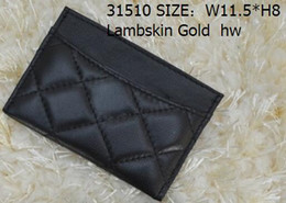Wholesale Dots Women Dress Belt - Women Genuine Leather Lambskin Leather & Caviar Small Purse Wallets & Holders Card & ID Holders Silver hw Gold hw 31510