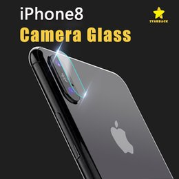 Wholesale Camera Films - Iphone 8 Plus iPhone X 7 Plus Camera Lens Film Tempered Glass Lens Film Apple 8 after the Camera Protective Film