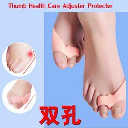 Wholesale Foot Bunions - 4pcs Silicone Toe Seperator Bunion Corrector Hallus Valgus Big Bone Correction Feet Care Hallux Valgus Orthotics Toe Separator
