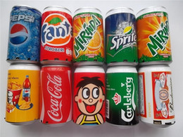 Wholesale Mp3 Can Speakers - Mini Speaker Cans Coke Pepsi Fanta 7-Up Sprite Zip-top Can Speakers USB TF Card Portable Sound Can With Retail Package DHL free