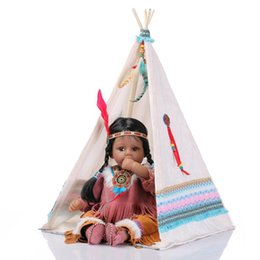 Wholesale Doll Tent - Nicery 20inch 50cm Reborn Baby Doll Indian Style Magnetic Soft Silicone Lifelike Girl Toy Gift for Child Christmas White Tent