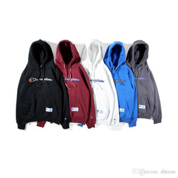 Wholesale Classic Fashion Personality - New Style Classic Logo Men's Pullover Fashion Hoodies Plus Velvet Loose Sweatshirt Letters Print Personality Hip Hop Streetwear Coat