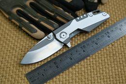 Wholesale Whale Tools - GTC Whale Shark Design Tactical bearing Flipper folding D2 blade TC4 Titanium handle camp hunt outdoor survival knife tools