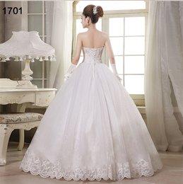 Wholesale Korean Tulle Shirt - 2016 new Korean Bra wedding dress Korean version of Slim thin lace wedding dress, trailing wedding